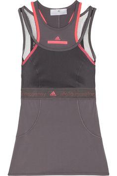 Adidas by Stella McCartney|Run Climalite® stretch and mesh tank|NET-A-PORTER.COM