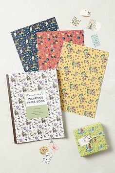 Jardin Blooms Wrapping Paper Book  #anthropologie  tons of cute wrap