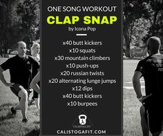 The one song workout will either kickstart your day or put an exclamation  point on it. Here are two ways to earn your bonus burn. One Song Workouts, Workout Songs, Russian Twist, Song One, The One, Burns, Motivation, Studio, Music