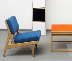 Jens Risom furniture from the  Rocket / Benchmark collection  can be viewed at Rocket Gallery,  London E1