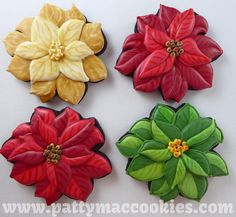 Christmas Poinsettia from the Etsy Store at Bobbi's Cookies