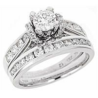 2.00 CT.T.W. Regal Diamond Bridal Ring Set in 14K White Gold (I, SI2) - Sam's Club