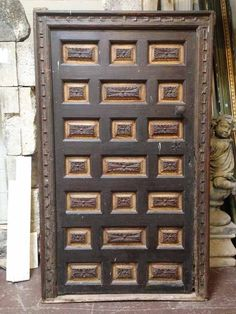 17th c.Spanish Carved Door w/Frame