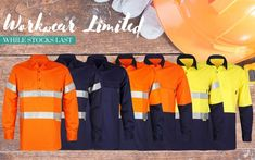 CLEARANCE - Heavy Duty Hi Vis 100% Bamboo Work Shirts are still available at Bamboo Village - and at reduced rates UNTIL SOLD OUT. Get em while they're hot. Bamboo Village, Gym Towel, Sleepwear Sets, Work Shirts, Clearance Sale, Favorite Color, Long Sleeve Shirts, Crop Tops, Hot