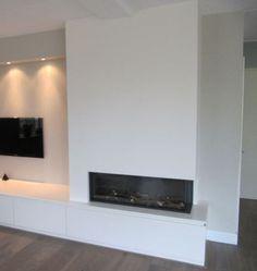 Een sprankelende haard! House Design, Home And Living, Fireplace Design, Home Living Room, House, Home, Interior, Interior And Exterior, Modern