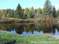 Reflections Autumn John Brown Pond by AdirondackMtnImages on Etsy, $30.00