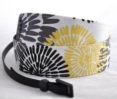 Camera Strap - Yellow Citron Daisy - Camera Straps, dslr camera strap, digital camera strap. $27