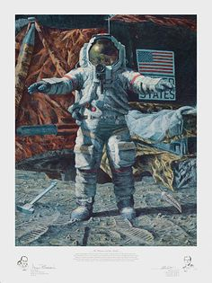 Alan Bean - The Hammer And The Feather (http://www.hiddenridgegallery.com/store/alan-bean/the-hammer-and-the-feather.html) #art #alanbean