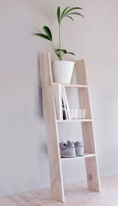 A simple ladder will serve as a simple #storage rack.