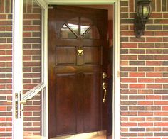 Refinish A Wooden Entry Door Entry Doors Wood Exterior Door