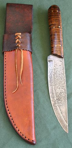 Forged roach belly style trade knife