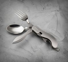 Camping or roughing it? Pack the Portable Cutlery Set. The foldable design makes it pocket size. | Harley-Davidson #HDBlackLabel Portable Cutlery Set
