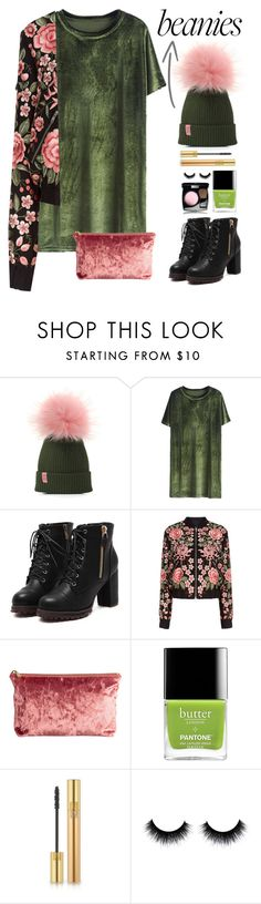 """""""Hat Head: Pom Pom Beanies!"""" by marialibra ❤ liked on Polyvore featuring Needle & Thread and Yves Saint Laurent"""