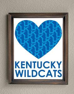 University of Kentucky UK Wildcats Heart by KaleidoscopeSpinning