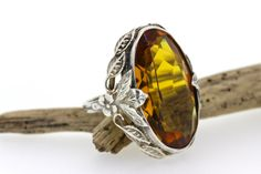 Antique Silver Ring  Citrine Ring  by FergusonsFineJewelry on Etsy    GORGEOUS!!