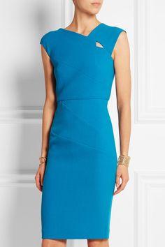 Roland Mouret | Barkis wool-crepe dress | NET-A-PORTER.COM