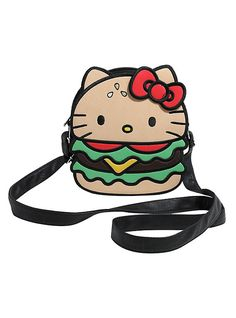 efc436ff4f Loungefly Sanrio Hello Kitty Hamburger Crossbody Bag
