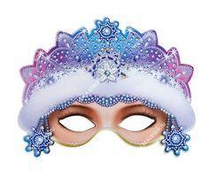 маска Снегурочки Blue Nose Friends, Christmas Scrapbook, Kids Corner, Photo Booth Props, Paper Models, Animal Pictures, Masky, Clip Art, Crafts