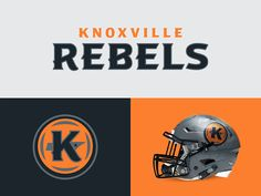 Knoxville Rebels designed by CJ Zilligen. Connect with them on Dribbble; the global community for designers and creative professionals. Football Uniforms, Sports Uniforms, Football Helmets, Fantasy Football Funny, Fantasy Football Champion, Football Logo Design, Sports Brands, Sports Logos, Logo Basketball