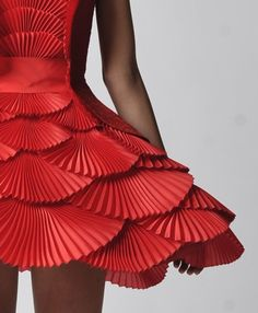 red pleats