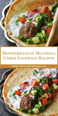 Mediterranean Meatball Gyros Sandwich Recipes More from my Mediterranean Diet Sandwich RecipesOven Baked Meatball Sandwiches RecipeGyros Salat Summer Recipes, Healthy Dinner Recipes, Cooking Recipes, Keto Recipes, Dessert Recipes, Dip Recipes, Recipies, Tea Sandwiches, Healthy Sandwiches
