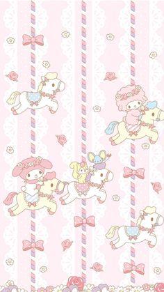 Pink Wallpaper Spring, Pink Wallpaper Kawaii, Hello Kitty Iphone Wallpaper, My Melody Wallpaper, Hello Kitty Backgrounds, Sanrio Wallpaper, Cute Pastel Wallpaper, Cute Pokemon Wallpaper, Cute Patterns Wallpaper