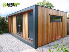 Garden Room Design Gallery – Powered by The Garden Room Guide Backyard Office, Garden Office, Insulated Garden Room, Cool Sheds, Garden Lodge, Container Shop, Porch Wall, Modern Tiny House, Shed Design