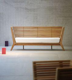 Gartenbank teak design  Jan Kurtz Casual Liege / Sonnenliege in Alu / braun, weiß ...