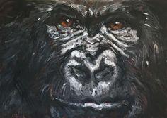 """into my soul"" 100 x 140 cm, acyl auf leinen Gallery, Animals, Linen Fabric, Animales, Roof Rack, Animaux, Animal, Animais"