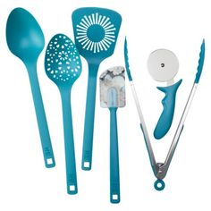 Room Essentials Kitchen Tool Set - TEAL for ovarian cancer awareness! Teal Kitchen Decor, Italian Kitchen Decor, Best Kitchen Colors, Kitchen Decor Themes, Turquoise Kitchen, Vintage Kitchen, Copper Kitchen, New Kitchen, Lemon Kitchen