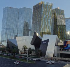 Las Vegas City Center - Leaning buildings and Spiky Retail Center