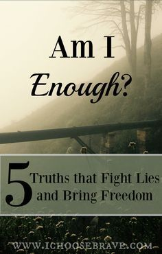 There is one lie we all fight. It lurks just below, exposing itself in our weakest moments. We must take every thought captive and fight lies with truth. Here are 5 truths we all must know .