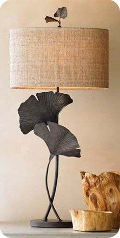 so, so love this ginko lamp Art Et Design, Leaf Design, Lamp Shades, Consoles, Decoration, Architecture Design, Table Lamp, Leaves, House Design