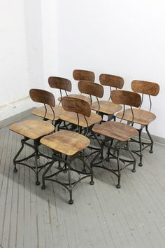 Dorset Finds Store — Set of 8 Uhl Toledo Chairs, ca. 1940s