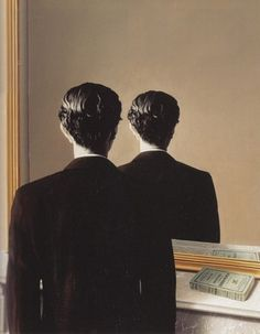 Rene Magritte, Not To Be Reproduced, 1937