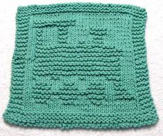 Knitting Pattern   TRAIN   Washcloth    PDF by ezcareknits on Etsy, $2.85