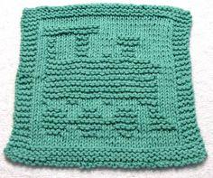 Knitting Pattern TRAIN Washcloth PDF by ezcareknits on Etsy, $2.85