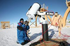 """Observing the stars at minus 84 degrees The Dome C telescopes in Antartica must operate continuously in weather that is most severe on the planet. In order for a target to stay """"fixed"""" in the viewing field of a telescope, the mount has to move continuously. maxon motors are used for this. The grease used in the motor's bearings is ideal for harsh/extreme temperatures and feature an ironless core designed with neodymium magnets, which provide the highest power available relative to motor…"""