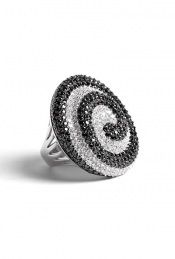 Kevin Charles London | Mulinello Swirl Crystal Ring by Kevin Charles