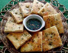 Whole Wheat Herb-Focaccia with Bistro Oil - Vegan