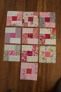 A New Start to a RSC Quilt (Quilting is more fun than Housework.) - A New Start to a RSC Quilt - Quilt Square Patterns, Patchwork Quilt Patterns, Beginner Quilt Patterns, Quilt Block Patterns, Quilting Tutorials, Pattern Blocks, Square Quilt, Quilting Designs, Quilt Blocks