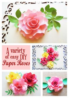 How to make paper roses. Printable flower pattern templates. When I first started creating paper floral...