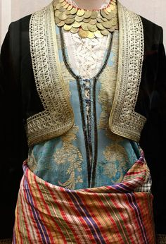 Greek costumes - Athens: National History Museum – costumes More - Greek Traditional Dress, Traditional Outfits, Gypsy Costume, Folk Costume, Greek Fashion, Ethnic Fashion, Greek Clothing, Western Outfits, Historical Clothing