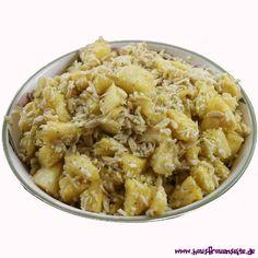 genialer Käsesalat - New Ideas Mango Curry Sauce, Pasta Salad, Macaroni And Cheese, Salads, Snacks, Ethnic Recipes, Food, Ideas, Pineapple Recipes