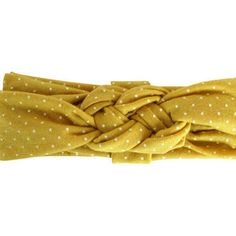Mustard Dotted Sailor Knot Tur…