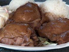 Shoyu Chicken Recipe from Food Network (use brown sugar & cornstarch)