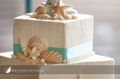 Beach themed cake, I would cover in fondant