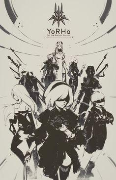 Glory for Mankind Anime Meme, Manga Art, Anime Art, Nier Automata A2, Character Art, Character Design, Video Game Art, Concept Art, Illustration Art