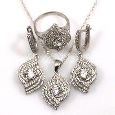 Free shipping full 925 silver set turkish hurrem kosem sultan zircon white topaz eddy серебряный ottoman hand set workmanship jeweler by sez by SILVERSEZ on Etsy