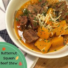 Butternut Squash Beef Stew - perfect for anyone following the 21 Day Fix meal plan!